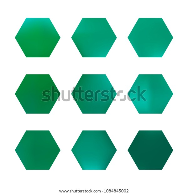 Design hexagonal vector logo template. colorful pattern. Colorful app icon set. Hexagonal gradient shapes. Stylish logo designs for web elements. For any type of business and network concepts.