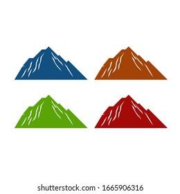 Design Hills in 4 color variants, on white