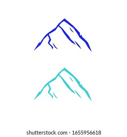 DESIGN HILLS BLUE ON WHITE. Design simple hills icons