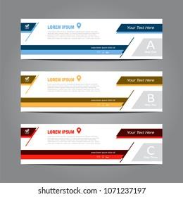 Design horizontal template brochure flyer banner. Vector illustration.