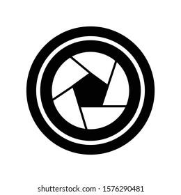 design icon shutter shot camera logo vector