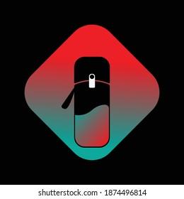 design icon tumbler bottle drink water logo vector