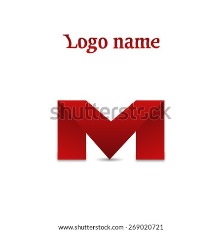 Design Icons Letter M Stylish Vector Stock Vector (Royalty