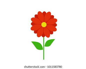 Design icons vector illustration of a flower (chamomile, gerbera, aster).