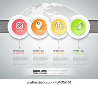 Design infographic template 4 steps, can be used for workflow layout, diagram, number options, graphic or website layout.