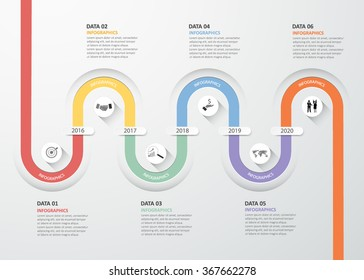 Design infographic template 6 steps for business concept.