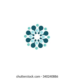 Design ink logo element. Abstract water molecule vector template set. You can use in biotechnology, energy, print, water and Inspiration concept icons.