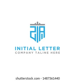 design inspiration, the monogram logo for the company from the initial letter of the ZA logo icon. -Vectors