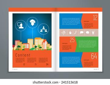 Design layout for brochure