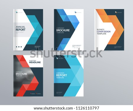 Design layout template company profile annual stock vector royalty design layout template for company profile annual report brochures flyers presentations maxwellsz
