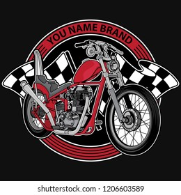 design logo club motorcycle, vector EPS 10