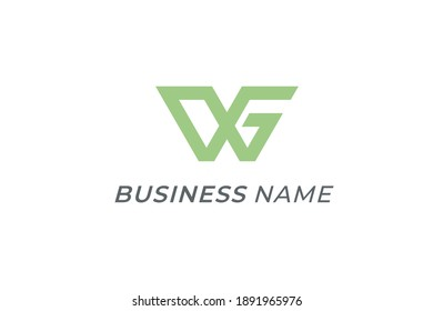 design logo creative letter W and G