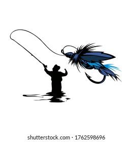 design logo for fishing  and flyfishing