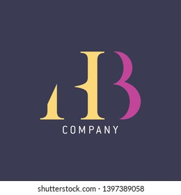 Design logo HB. Logo template for company. Monogram logo. Letters H and B