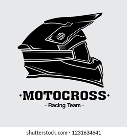 design logo helmets motocross, vector EPS 10