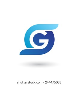 Design logo icon template with letter G. Vector illustration.