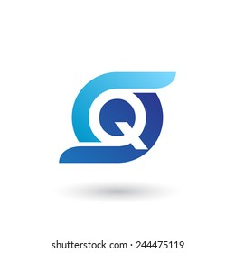 Design logo icon template with letter Q. Vector illustration.