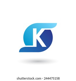 Design logo icon template with letter K. Vector illustration.