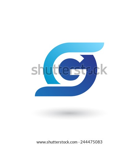 design logo icon template with letter g vector illustration