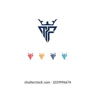 Design logo initial MF