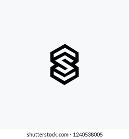 Design Logo Linked SS Letter