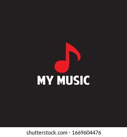 design logo my music vector