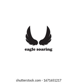 design logo soaring eagle wings vector