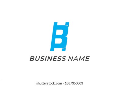 design logo stairs and letter B