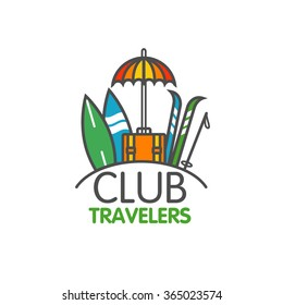 Design Logo template Club travelers