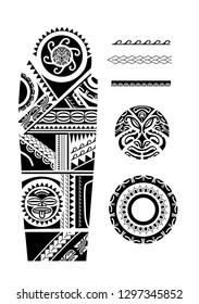 the design of maori tattoo sleeve