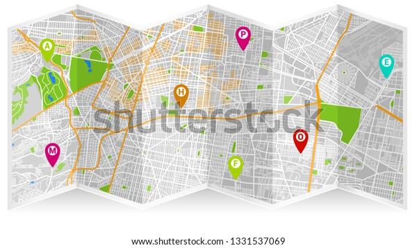 Design Map City Gps Mexico | Royalty-Free Stock Image on