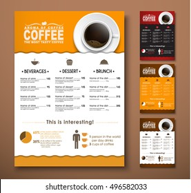 Design a menu for the cafe, a restaurant, coffee shop. Templates with hand drawings, of different colors. Vector illustration. Set