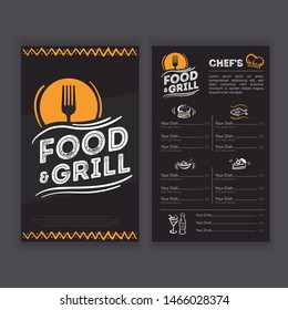 Design of a Menu Restaurant