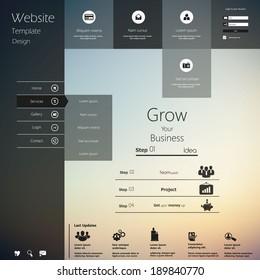 Design of the menu for a website. Creative web design