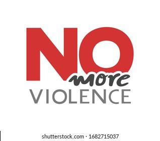 Design of no more violence message
