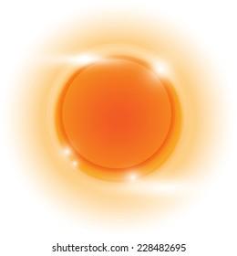 Design orange glow circle vector abstract background, stock vetor