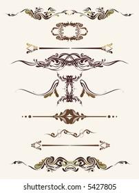 design ornaments ,floral frames,borders,vector illustration