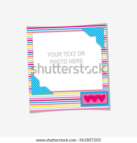 a631384a7695 Design Photo Frame On Nice Background Stock Vector (Royalty Free ...