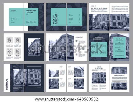 Design Photography Proposal Vector Template Brochures Stock Vector