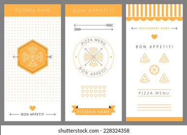 Design Pizza menu. Vector isolated illustration.