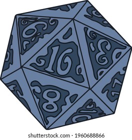 Design of a polygonal die to play RPG, Role Playing Games