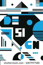 Design Poster Geometric Elements. Vector Illustration