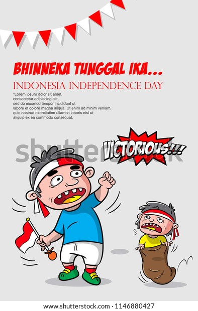 Design Poster Indonesia Independence Day Greeting Stock Vector Royalty Free 1146880427