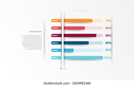 Design presentation template chart, graph for use in business plan on white background. vector infographic elements style.