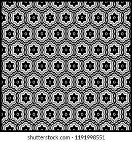 Design print for kerchief. The pattern of geometric floral ornament. Vector illustration. The idea for design prints for neck scarves, carpets, bandanas