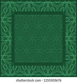 Design Print. The Pattern Of Geometric Ornament. Vector Illustration. The Idea For Design Prints For Neck Scarves, Carpets, Bandanas.