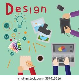 Design process, brainstorming, designers at work