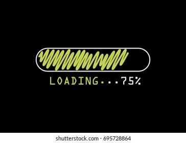 Design of progress bar, loading. Light loading idea concept. Bar sign concept. Illustration design isolated over white