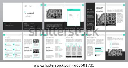Design Proposal | Design Proposal Vector Template Brochures Flyers Stock Vector