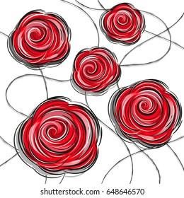 design red rose